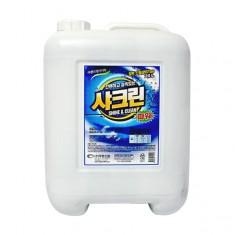 [세탁세제]대용량액체청소세제/샤크린파워20KG/일반/드럼용
