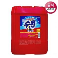 [액체세제]LG수퍼타이 엑체세제14L/찬물전용/초강력 액체세제