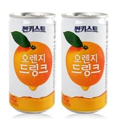 [음료수]**무료배송**해태/썬키스트/오렌지180ml/오렌지농축액함유