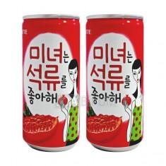 [음료수]**무료배송**롯데/ 미녀는 석류를 좋아해/175ml/석류과즙함유음료